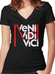 Madonna VENI VIDI VICI Women's Fitted V-Neck T-Shirt