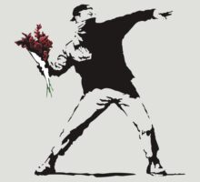 Banksy Flower Thrower by fridchar