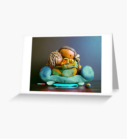 CHUNKIE Mother and Boy Child Greeting Card