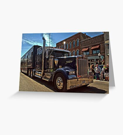 Express Clydesdale Kenworth Semi Truck Greeting Card