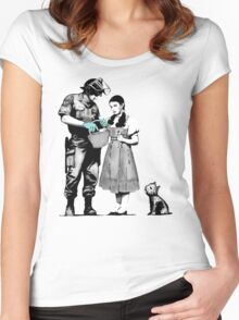 Banksy Dorothy Women's Fitted Scoop T-Shirt