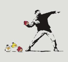 Banksy Angry Birds T-Shirt