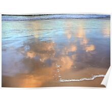 Wet Sand Reflections-1497 Poster