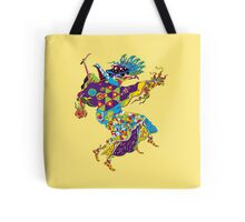 Psychedelic Plague Doctor Tote Bag