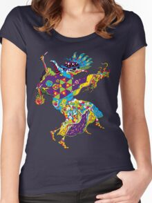Psychedelic Plague Doctor Women's Fitted Scoop T-Shirt