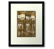The Heavenly Lotus Tea House Framed Print