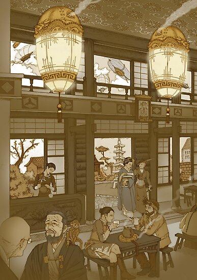 The Heavenly Lotus Tea House by Pete Katz