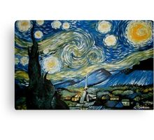 Reproduction of Starry Night Canvas Print