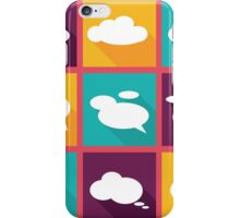 speech clouds, bubbles in flat design with shadows iPhone Case/Skin
