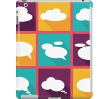 speech clouds, bubbles in flat design with shadows iPad Case/Skin