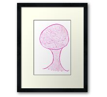 Pink Tree of Life Framed Print
