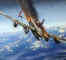 Berchtesgaden Lancaster F-for-Freddy by Gary Eason + Flight Artworks
