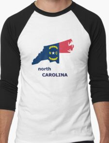 NORTH CAROLINA STATE FLAG Men's Baseball ¾ T-Shirt