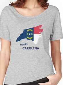 NORTH CAROLINA STATE FLAG Women's Relaxed Fit T-Shirt