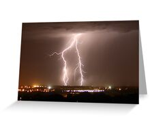 Northern Adelaide Thunderstorm 1 Greeting Card