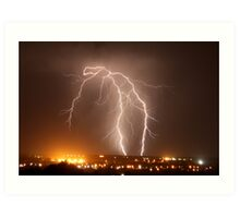 Northern Adelaide Thunderstorm 2 Art Print