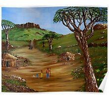 African Village Poster