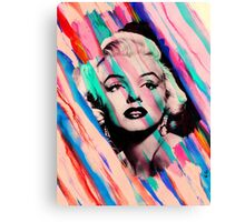 Marilyn Monroe Rainbow Paintbrush Canvas Print