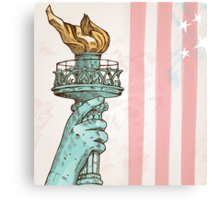 statue of liberty with torch Canvas Print