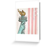 statue of liberty with torch Greeting Card