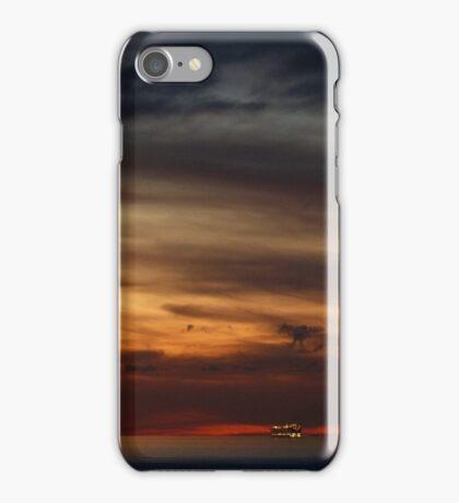 cruiser with sunset III - crucero con puesta del sol iPhone Case/Skin