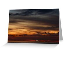 cruiser with sunset III - crucero con puesta del sol Greeting Card