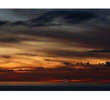 cruiser with sunset III - crucero con puesta del sol Photographic Print