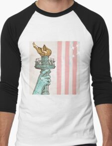 statue of liberty with torch Men's Baseball ¾ T-Shirt
