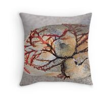 Clinging To The Rocks Throw Pillow
