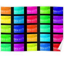 Multi coloured lips Poster