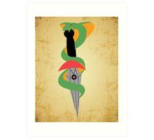 Dagger Snake  Art Print