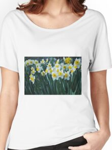 White Daffodils Women's Relaxed Fit T-Shirt