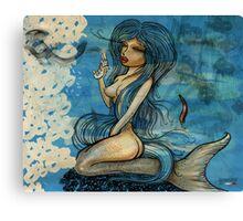 pin up - siren lowar ocean Canvas Print