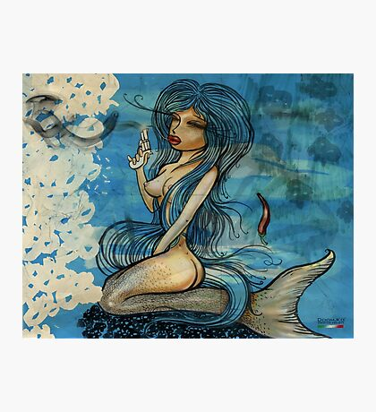 pin up - siren lowar ocean Photographic Print