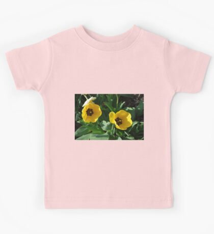 Yellow Tulips Kids Tee