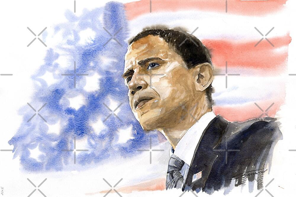 Barack Obama 03 by Yuriy Shevchuk