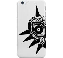 Majora's Mask (Tattoo, black) iPhone Case/Skin