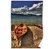 Wooden Rowboat at Wellington Beach Poster