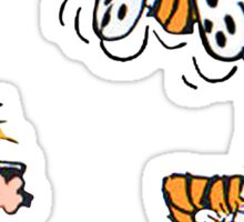 Calvin and Hobbes take a picture Sticker