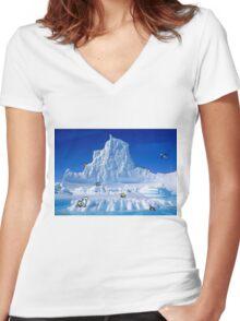 Glacier Pokemon Women's Fitted V-Neck T-Shirt
