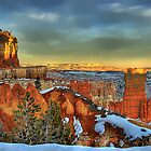Winter sunset in Bryce Canyon by Gyuri Nagy