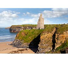 view of the  Ballybunion castle beach and cliffs Photographic Print