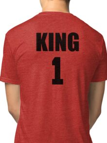 KING (Black) The His of The His and Hers couple shirts Tri-blend T-Shirt