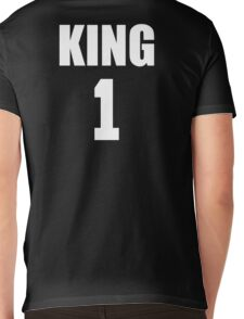KING (White) The His of The His and Hers couple shirts Mens V-Neck T-Shirt