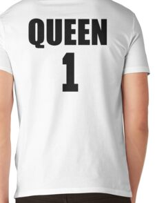 Queen (Black) The Hers of the His and Hers Mens V-Neck T-Shirt