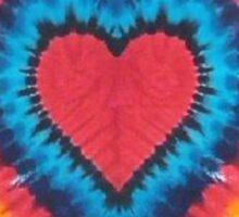Tie-Dye Heart Sticker
