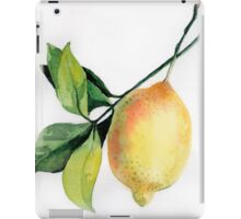 Branch of  lemons with leaves iPad Case/Skin