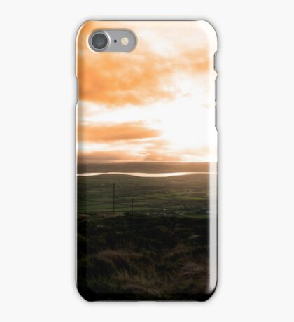 view of the Kerry coast with telegraph masts iPhone Case/Skin