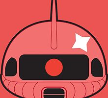 Red Zaku II by bonbombs