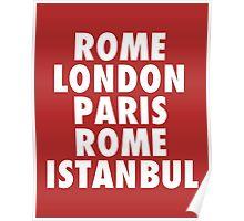 Liverpool Champions League Destinations. Poster